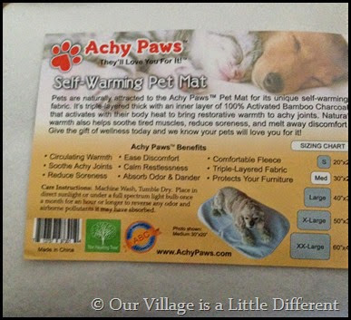 Achy Paws Self Warming Pet Mat