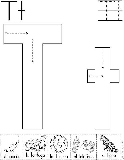 Dibujos De Letra T Para Pintar
