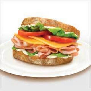 Honey Maple Ham & Cheddar Sandwich.