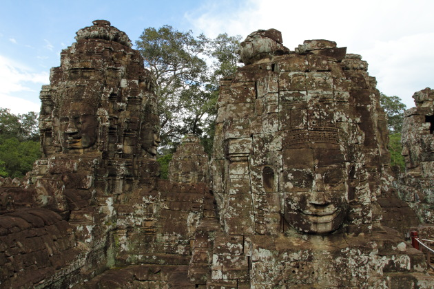 The faces of Bayon Temple, Siem Reap, Cambodia