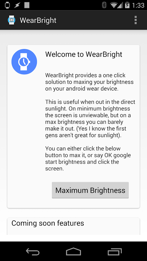 WearBright- screenshot