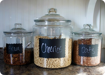 cereal in glass containers
