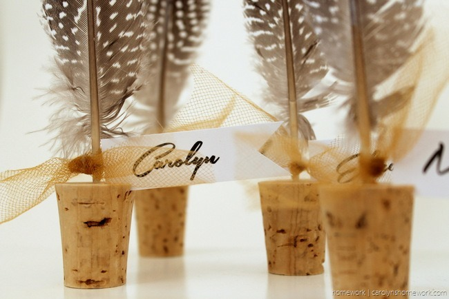 Cork & Feather Place Cards - homework  (6)