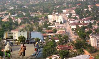 Une vue aérienne de la ville de Kisangani.