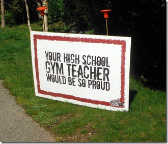 gym teacher sign