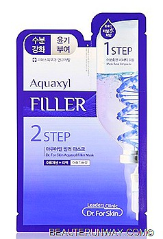 Leaders Clinic 2Step Aquaxyl Filler Mask - Enhanced hydration & skin regeneration. Protects skin from dryness