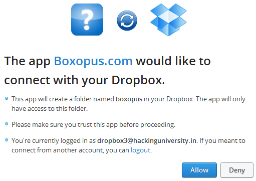 boxopus dropbox permission