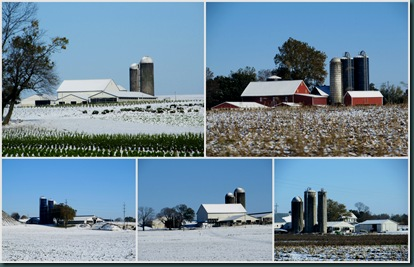 PA barn collage