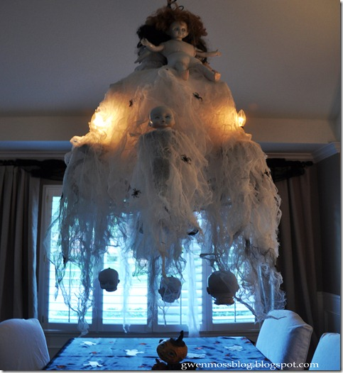 Gwen Moss: How To Decorate Your Chandelier For A Halloween