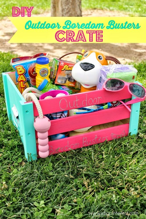 DIY Outdoor Boredom Busters Crate