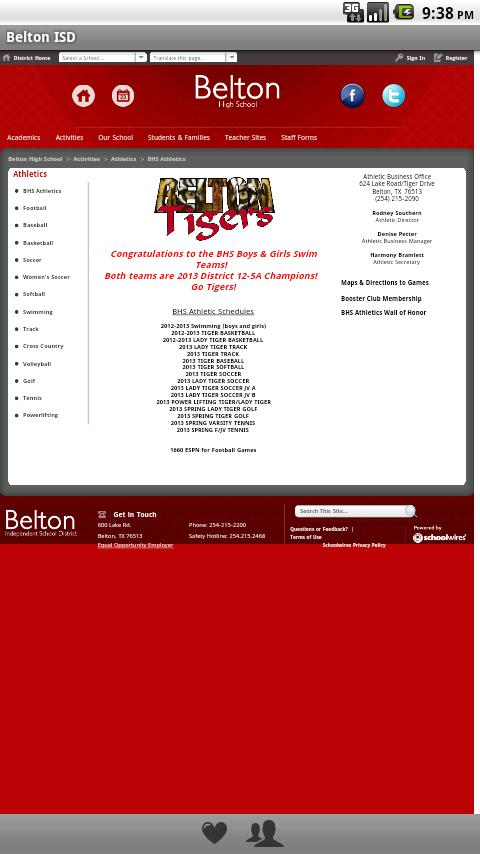 Belton ISD- screenshot