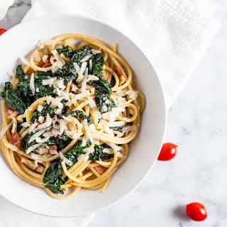 Kale + Bacon Spaghetti.