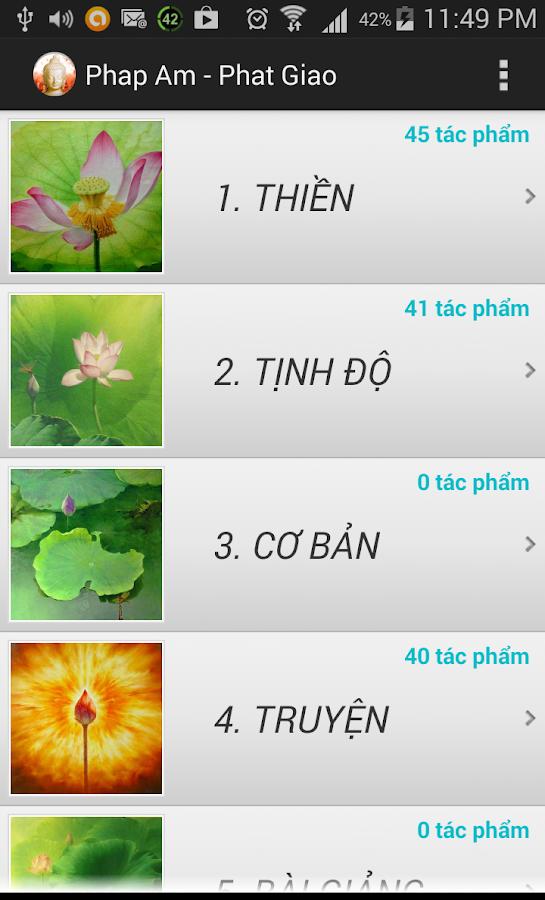 Phap Am Phat Giao- screenshot