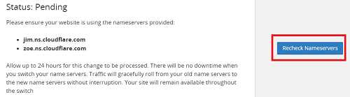 Hướng dẫn thay Nameservers CloudFlare cho Godaddy