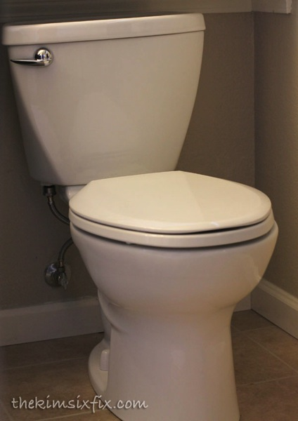 Low flow toilet installation