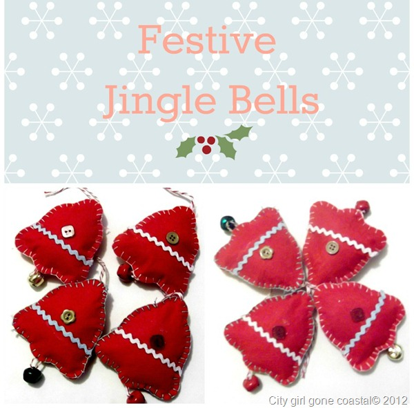 festive felt jingle bells