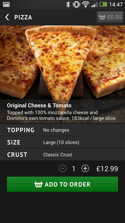 Domino's Pizza - screenshot