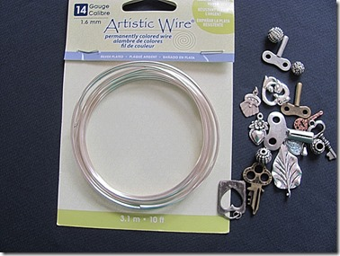 wire and charms