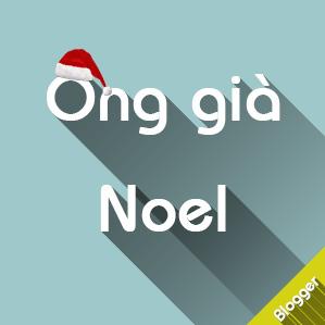 Trang trí giáng sinh với Ông già Noel cho Blogspot