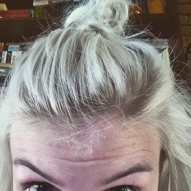 half bn hairstyle