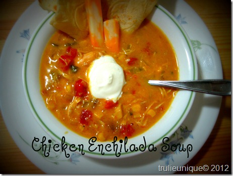 chicken enchilada soup, dump soup, semihomemade soup, mexican soup, southwest soup, chicken tortilla soup
