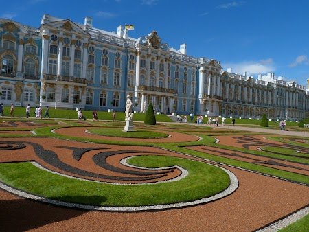 Circuit Rusia: Palatul Tsarskoe Selo - fatada