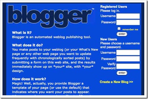 blogger first look
