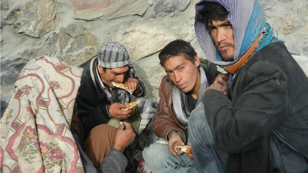 Heroin addicts in Kabul