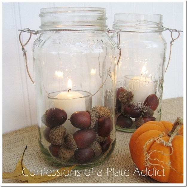 CONFESSIONS OF A PLATE ADDICT Fall Mason Jar Candles