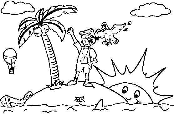 Colorear Dibujos De Islas Piratas
