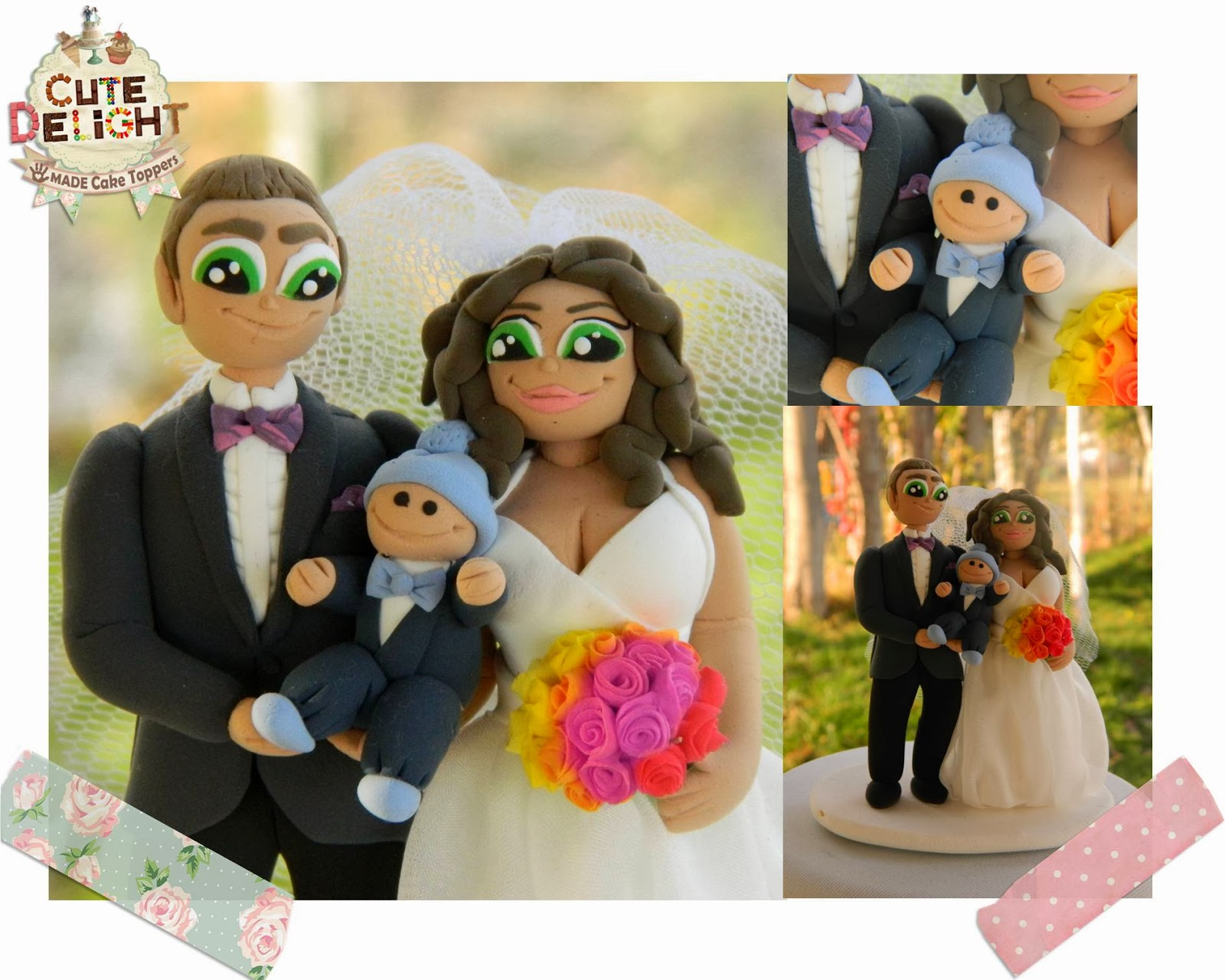Funny Cake Toppers Bride Dragging Groom