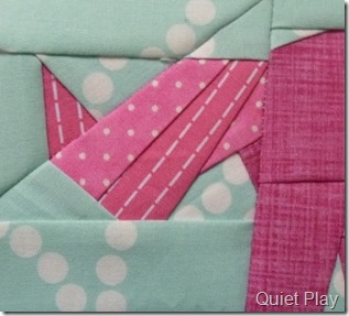 Paper Pieced Pink Unicorn Tail