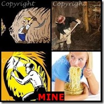 MINE- 4 Pics 1 Word Answers 3 Letters