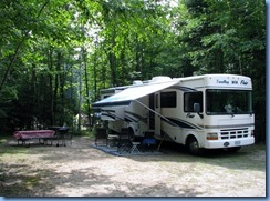 7119 Restoule Provincial Park - Kettle Point Campground - our motorhome in our campsite # 404