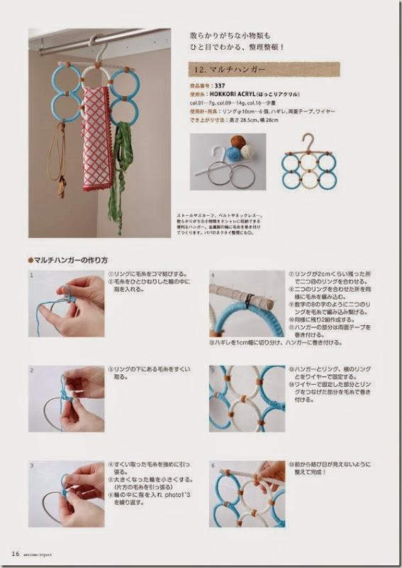 colgador de anillas de crochet organizador