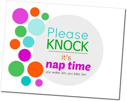 image regarding Please Knock Sign Printable identified as Be sure to knockits nap period Printable Indication