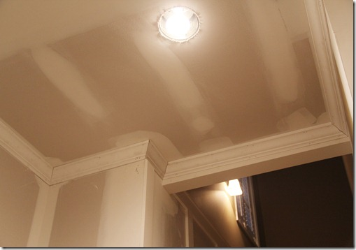 basement crown molding remodel