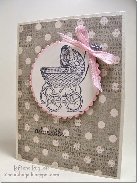 LeAnne Pugliese WeeInklings Baby Coach Card