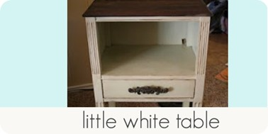 little white table