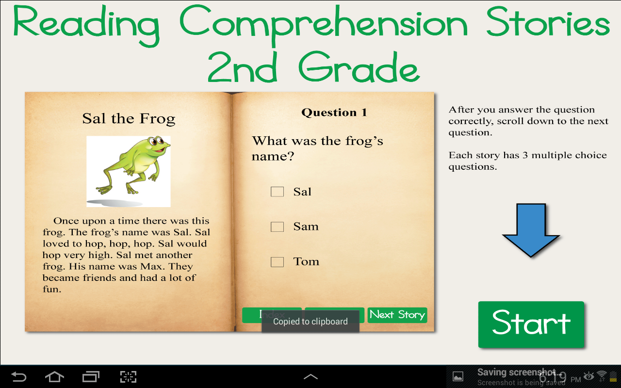 Worksheet Grade Two Reading Comprehension reading comprehension grade 2 android apps on google play screenshot