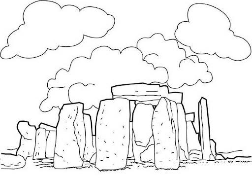 Dibujos De Prehistoria Para Ninos Para Colorear: Dibujo Monumento Prehistoria