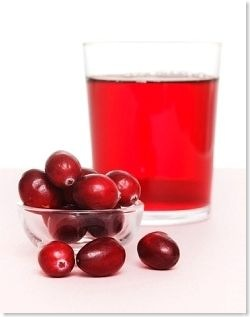 cranberry juice and fruits