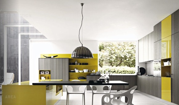 Grey-mustard-yellow-modern-kitchen