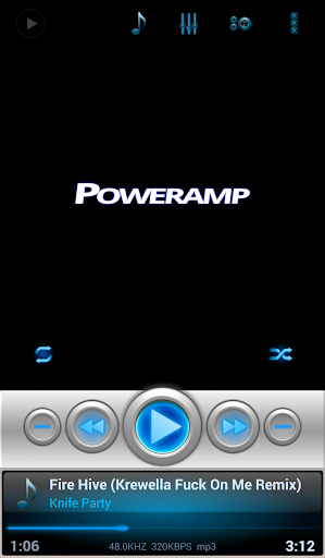 Mad Jelly Blue Poweramp Skin  screenshots 4