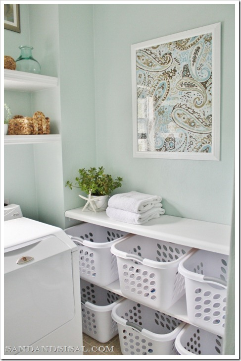 laundry room basket sorting station
