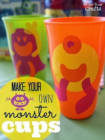 Make Your Own Monster Cups #MUJuice #gingersnapcrafts #tutorial[6]