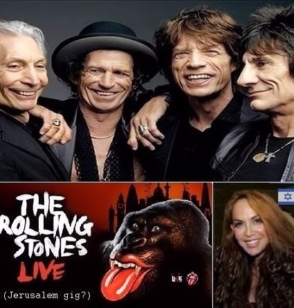 Hoax story about Rolling Stones playing in Israel