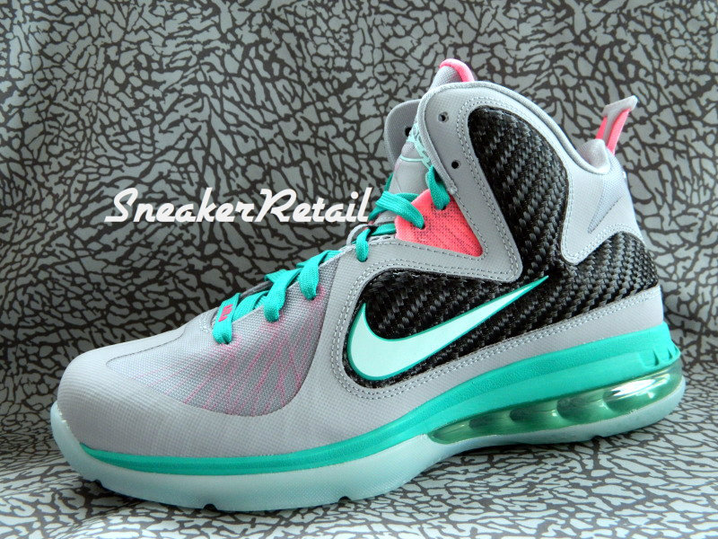 a0a369d5f4fc Detailed Look at Kids8217 Nike LeBron 9 GS 8220Miami Vice8221 ...