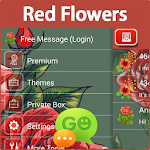 GO SMS Red Flowers