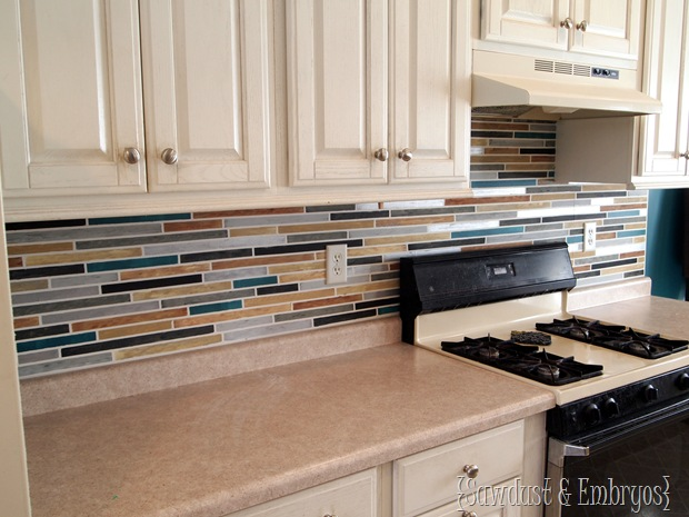 Paint Your Backsplash To Look Like Tile Sawdust And Embryos